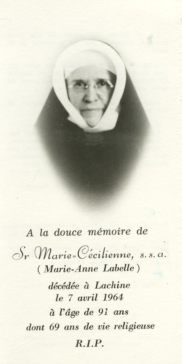 soeur Marie-Cécilienne