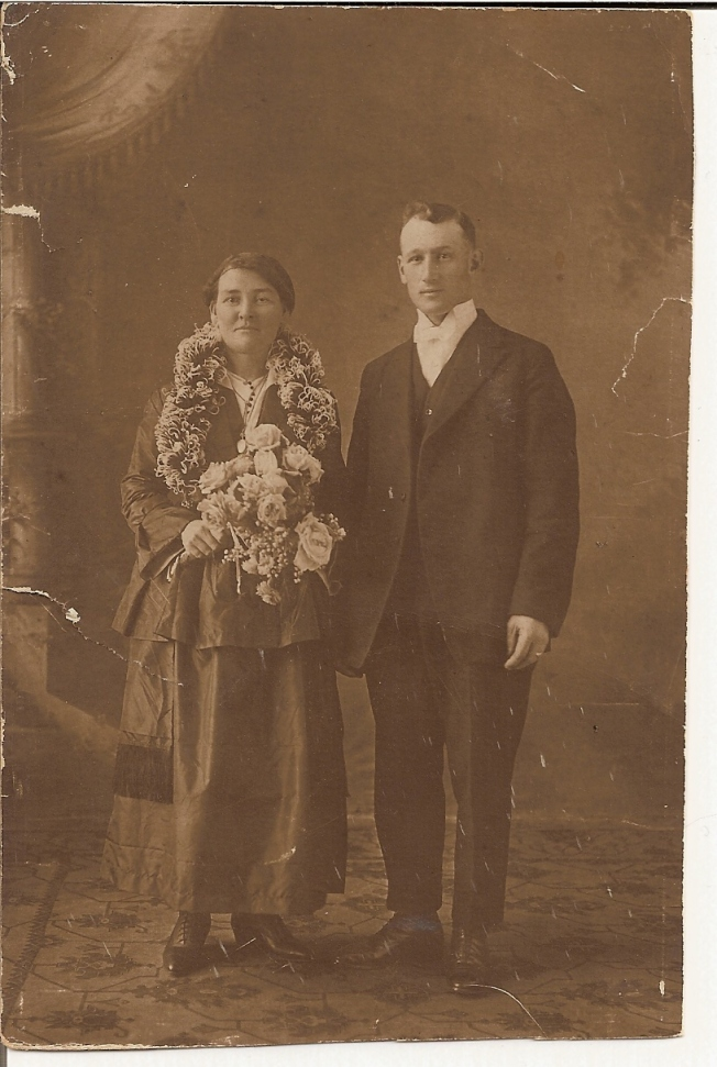 photo de mariage des grand-parents maternels