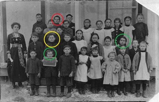 Benjamin Quesnel sur la photo de l'école de rang