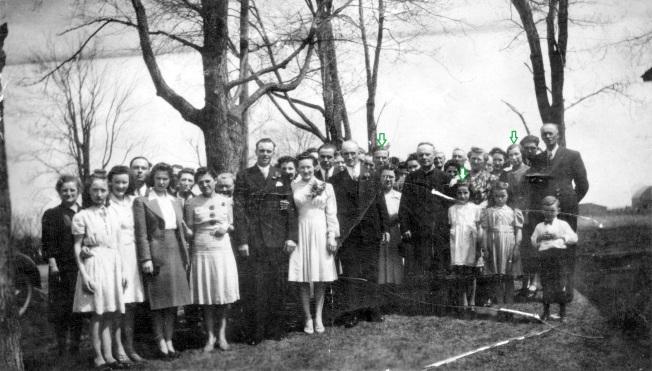 mariage Frank Farmer et Claire Sauvé identification famille Brunet