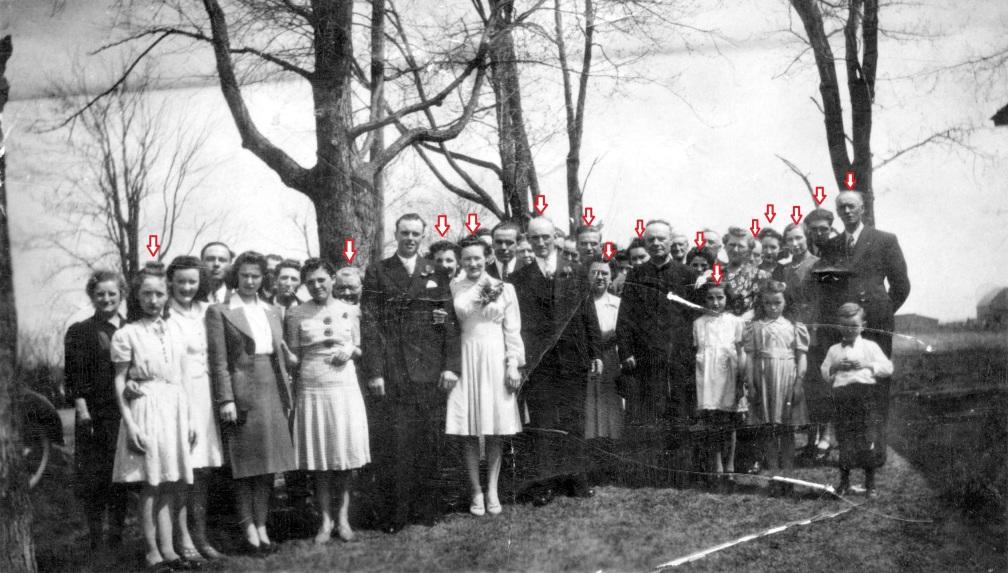 mariage Frank Farmer et Claire Sauvé identification