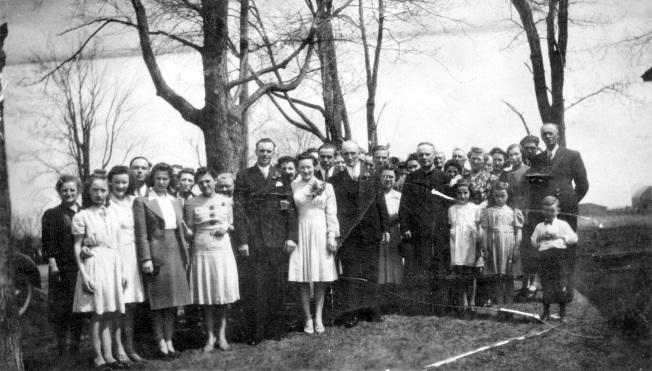 mariage Frank Farmer et Claire Sauvé