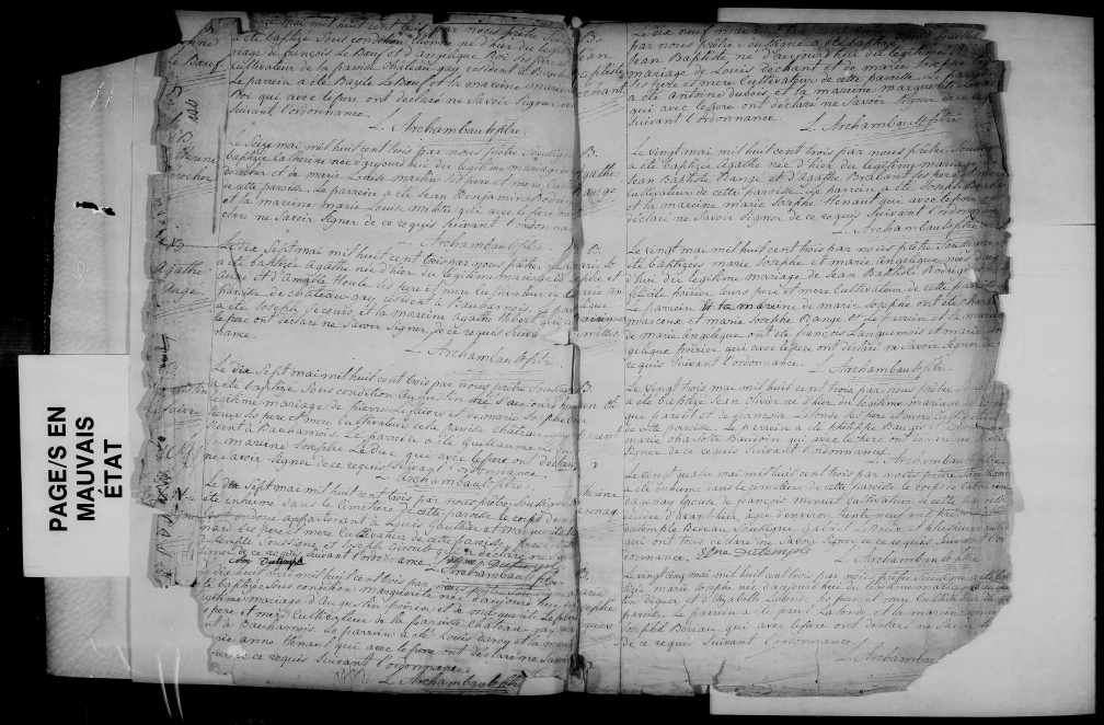 1803 décès Catherine Dagenais 22 mai 1803
