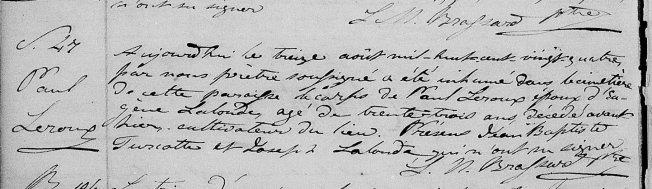 1824 Paul Leroux décès zoom