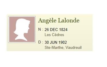 lignée matrilinéaire Angèle Lalonde
