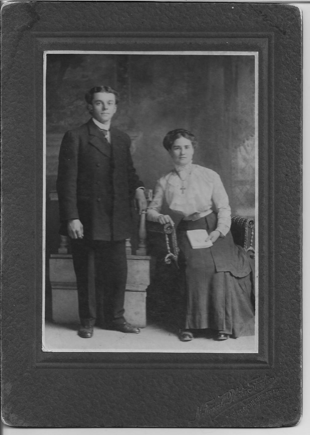 Wilfrid Sauvé et Émiliana Quesnel