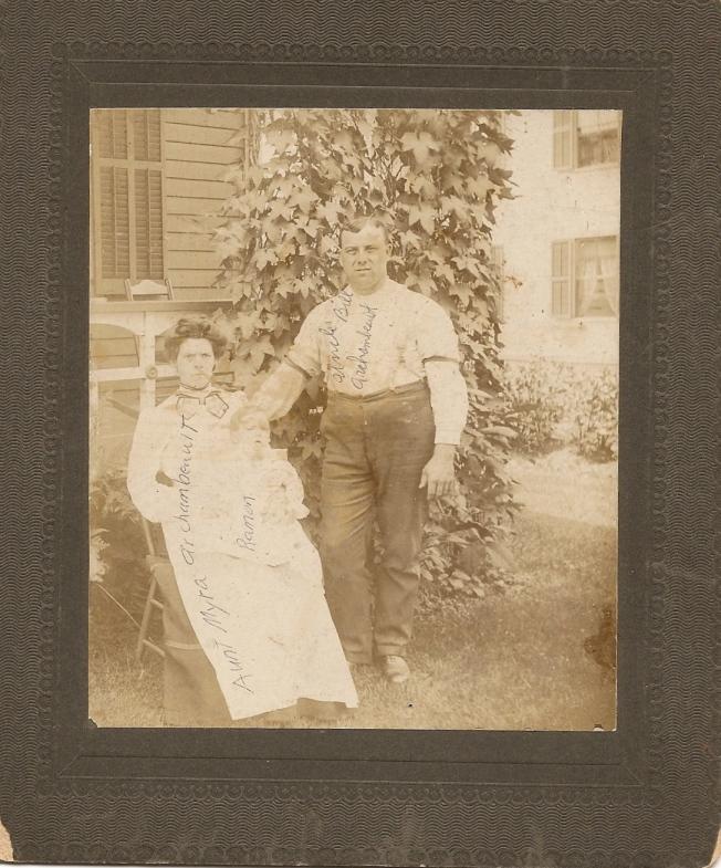 Myra Alexandre avec Raymond et William