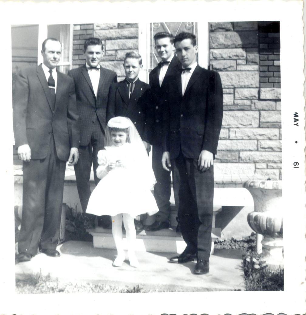 famille Farmer Premiere Communion 1961