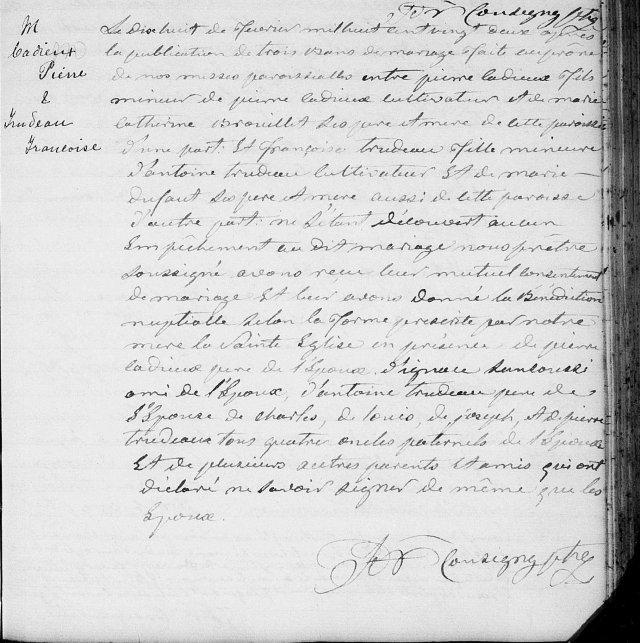 1822 Pierre Cadieux Françoise Trudeau 18 février zoom