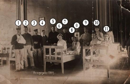 SCHWAB Eugene-Postkarte 1914-Numerotes