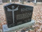 cimetière de St-Norbert au Manitoba : Thérèse-Secondine, Germain, et Marie-Marthe Bohémier