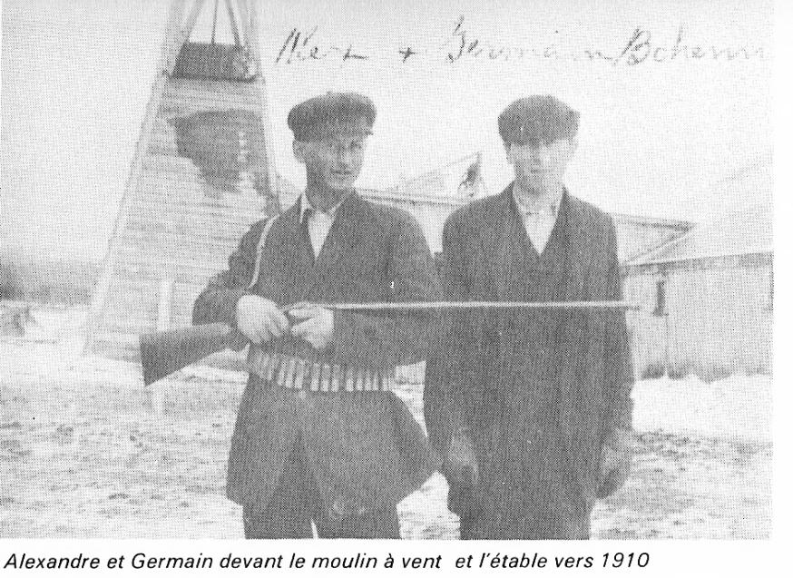 Alexandre et Germain Bohémier en 1910