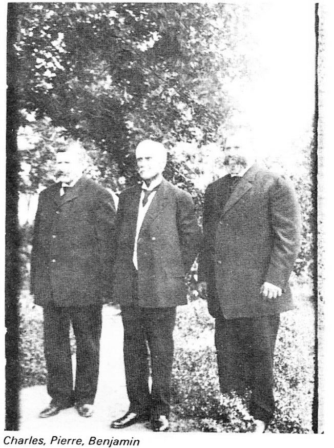 Les trois frères Bohémier : Charles, Pierre-Casimir et Benjamin