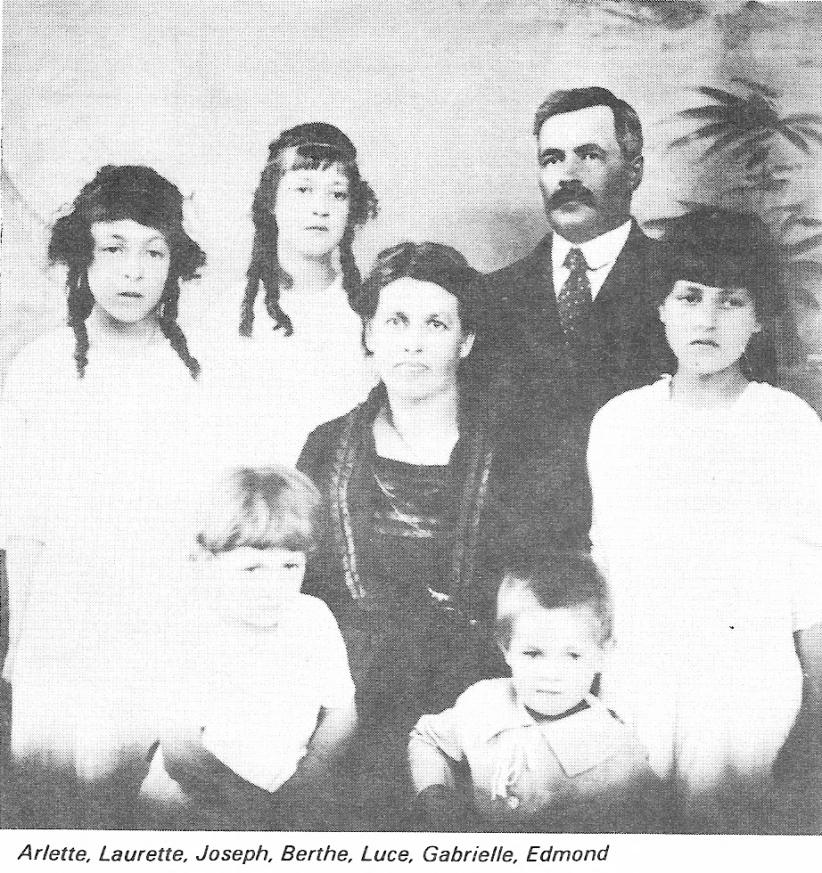 famille de Joseph Grandmont et Berthe Bohémier