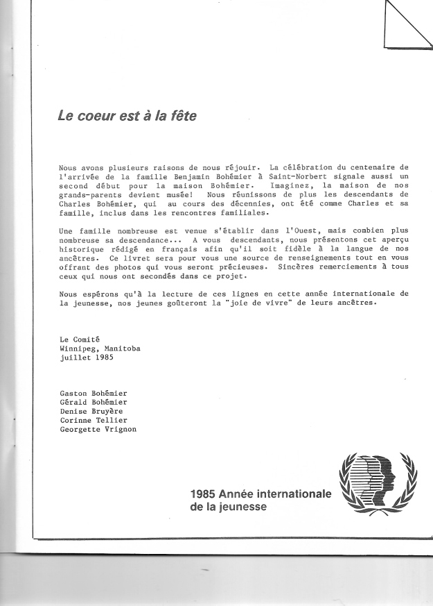 page 3 du document Bohémier 1884-1984