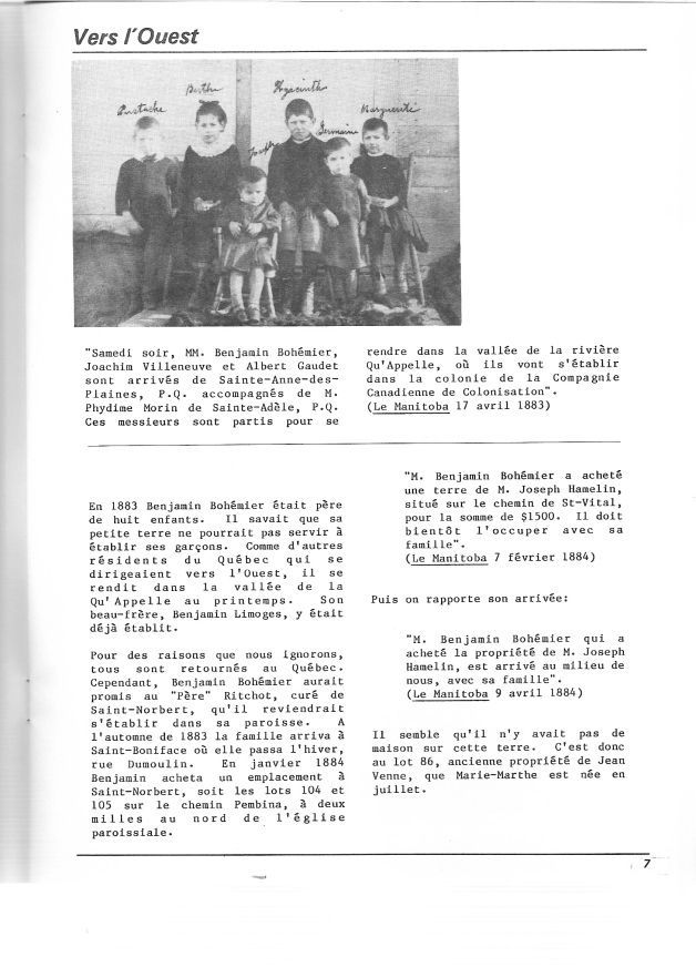 page 10 du document Bohémier 1884-1984