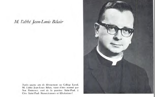 curé Bélair Jean-Louis